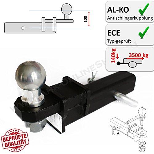 AHK US-ADAPTER 50x50mm Anhängevorrichtung auch für AL-KO Antischlingerkupplungen