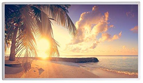Bildheizung Infrarotheizung mit Digitalthermostat - 5 Jahre Herstellergarantie - - Heizt nach dem Prinzip der Sonne(Palme, Strand 2,450)