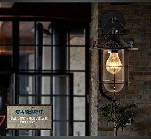 JJZHG wandlamp wandlamp waterdichte wandverlichting retro herderwoonkamer studiering lantaarn dock wandlamp omvat: wandlamp, stoere wandlampen, wandlampen ontwerp