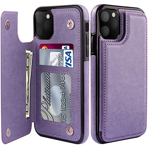 LETO iPhone 11 Case,Luxury Flip Folio Leather Wallet Case Cover with Built-in Card Slots and Kickstand for Girls Women,Protective Phone Case for iPhone 11 6.1