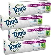 Tom's of Maine Antiplaque Plus Whitening Gel, Spearmint 4.7 oz (Pack of 4)