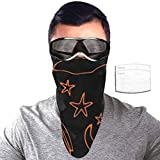 Half Bavaclava Face Mask Triangle Wind Dust Proof Masks With Filter Magic Tape Strap Full Ears Protection For Women Men Ski Motorcycle Cycling Bicycle -Halloween Witch Hat Broomstickspider Web Star M