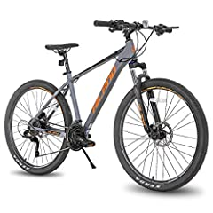 This bike has a high quality ultralight aluminum frame and an inner wire design The brake system consists of double Hydraulic disc-Brake. And 27-speed Shifters ensures total control in every situation. The 27.5-inch wheels and Lock out suspension for...