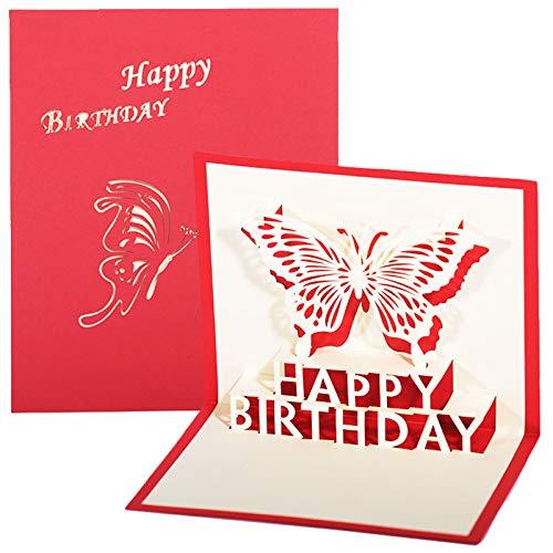 LxwSin 3D Tarjeta Emergente de Boda, Tarjetas de Felicitación Cumpleaños, Tarjeta de Invitación Emergente 3D Hecha a Mano Tarjeta de Agradecimiento Emergente con Sobre para Cumpleaños Boda Ani