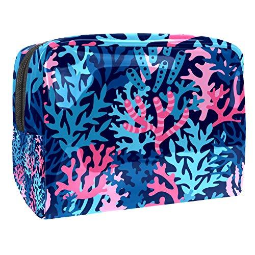 TIZORAX Kosmetiktasche für Frauen, heiliger Baum, Reise-Kulturbeutel, groß, PVC, Make-up, handlicher Beutel, Organizer mit Reißverschluss Muster 5 18.5x7.5x13cm/7.3x3x5.1in