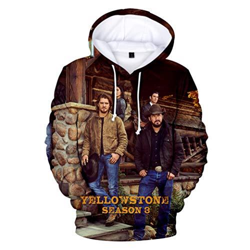 Greatbe Yellowstone Season3 Felpa con cappuccio per uomo/donna/gioventù Cl01 XL