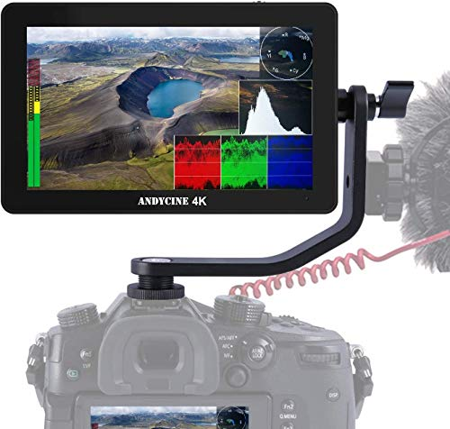 ANDYCINE A6 Plus V2-5.5 Zoll Touchscreen IPS Kamera-Monitor (Field Monitor) mit 4K HDMI, 3D LUT und 1920x1080 FullHD-Darstellung