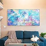 KWzEQ Pintura de Arte de Pared Rosa de Ciervo de Cuento de Hadas nórdico y Lindo póster de Lienzo Sala de Estar Dormitorio decoración del hogar,50X90cm,Pintura sin Marco