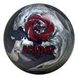 Motiv Midnight Sniper Bowling Ball Black/Silver/Red, 15lbs