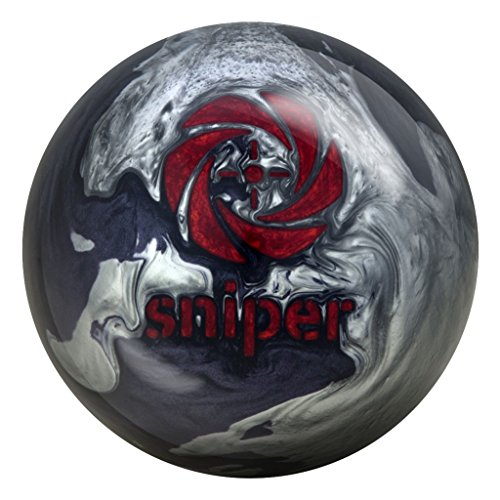 Motiv Bowling Products Midnight Sniper Bowling Ball 14Lbs, Grey/Black Pearl, 14
