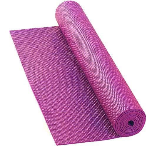 LILENO SPORTS Yoga Matte Pink (180x60cm) inkl. Tragegurt - Gymnastik und Fitnessmatte extra rutschfest in 4 mm Dicke - Sport und Yogamatte für Gym, Workout und Yoga - Sportmatte für Zuhause