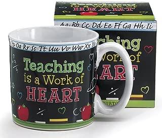 Teaching Is A Work Of Heart Teacher's Coffee Mug With Gift Box