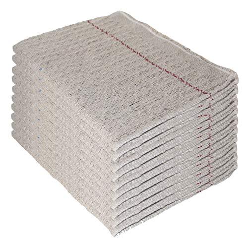 10 Stück Waffel Scheuertuch 50x60 cm Bodentuch Bodenwischtuch Scheuerlappen
