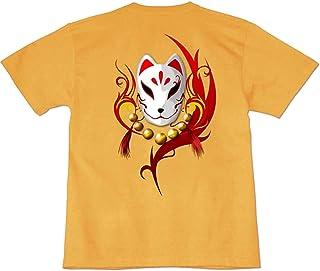[GENJU] Tシャツ キツネ アニマル 動物 狐 能面 稲荷大社 伏見 稲荷 神社 表もデザインあり メンズ キッズ