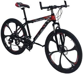نوع فرامل الدراجة الحمراء اللون: فرامل قرصية. نوع الدراجة: دراجة مطوية - رياضية مقاس العجلات: حجم عجلة الدراجة الرياضية: 2...