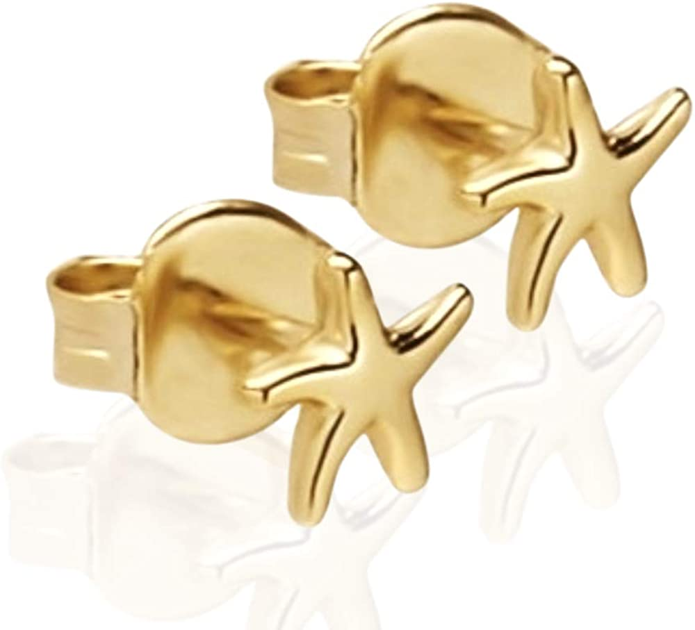 BELLABOHO Gold Plated Starfish Stud Earring - Dainty Jewelry for Everyday Wear – Gifts for Women