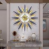 B/H Reloj de Pared con numeros Moda DIY,Reloj Creativo de Lujo Ligero, Reloj de Pared de Personalidad Simple-A_70 * 70cm,Reloj de Pared Mute Moda Escuela