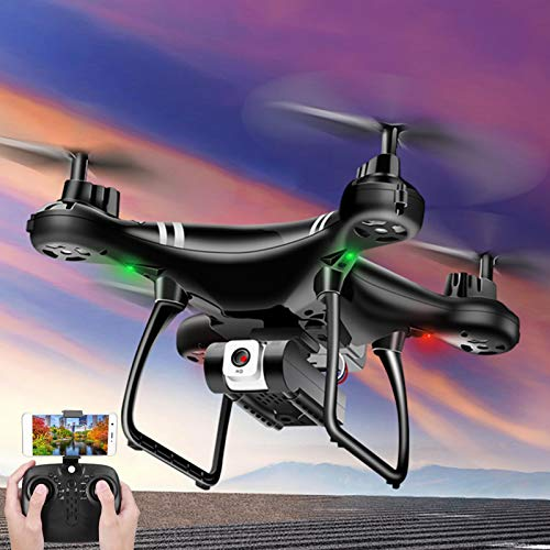 SALUTUYA RC Drone Modo sin Cabeza Trayectoria Flying Outdoor Drone Toy Quadcopter Ajustable cumpleaños(Black 4K Pixels)