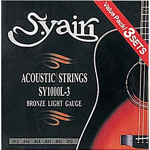 s. yairi Saiten für Akustikgitarre sy-1000l-33Set Pack Licht (012–052) sy-1000l-3