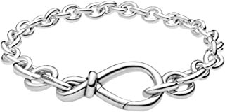 Pandora 598911C00 - Pulsera de plata con nudos de infinito para mujer
