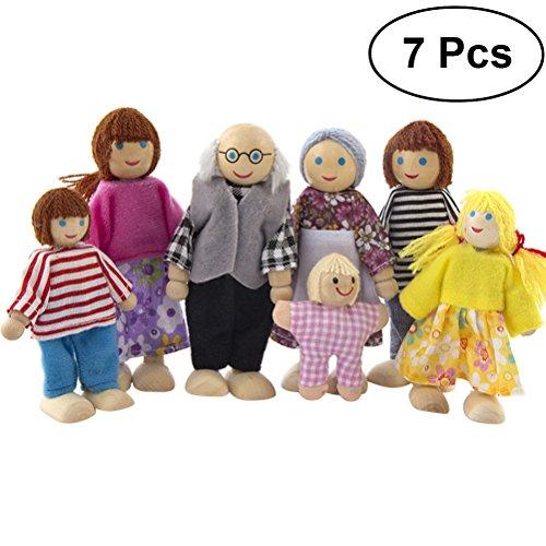 TOYMYTOY Muñecas de madera Familia Encantadora casa de muñecas Juegos de simulación...