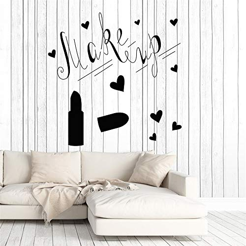 yiyiyaya Make Up Lipstick Decalcomanie da Muro Girs Woman Bedroom Decoration Adesivi in ​​Vinile Salone di Bellezza Poster Carta da Parati Home Ornament Murale caffè 84x85 cm