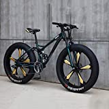 Bicicleta Bicicleta de montaña 26 pulgadas 7/21/24/27 Bicicleta de velocidad Hombres Mujeres Estudiante Bicicleta de velocidad variable Fat Tire Hombres Bicicleta de montaña-27 velocidad_cian
