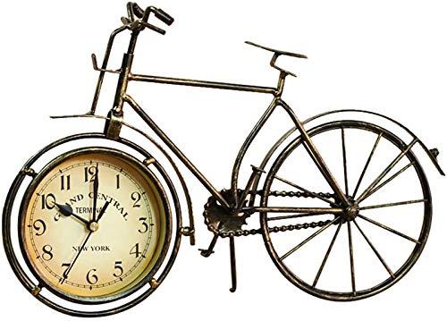 FENGCLOCK Reloj De Mesa Tipo Bicicleta De Hierro Vintage Tabla Clásica De Escritorio Bicicletas Reloj Adorno De Decoración del Hogar No Tictac Silenciosa Retro Decorativo Reloj De Bicicletas