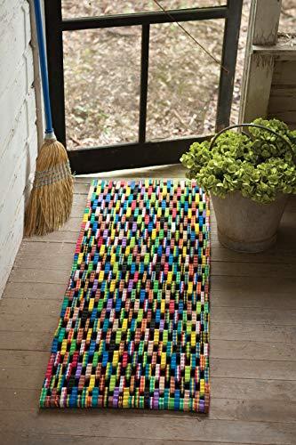 KALALOU Recycled Flip Flop Door Mat, One Size, Multicolor