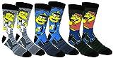 The Simpsons Lässige Crew-Socken, 2 und 3 Paar, mehrfarbig (Einheitsgröße, Moe/Barney/Wiggum)