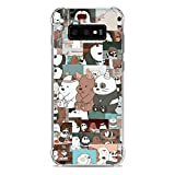 Clear Transparent Soft TPU Case Cover for Samsung Galaxy S10e-We Bare-Bears 7