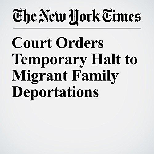 Court Orders Temporary Halt to Migrant Family Deportations copertina