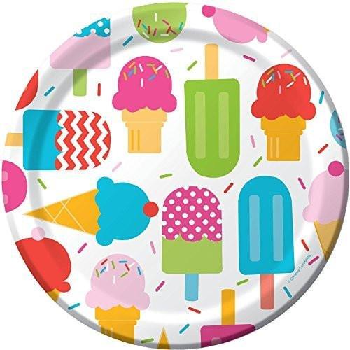 """8 Große farbenfrohe Pappteller aus der Serie """"Frozen Fun"""""""
