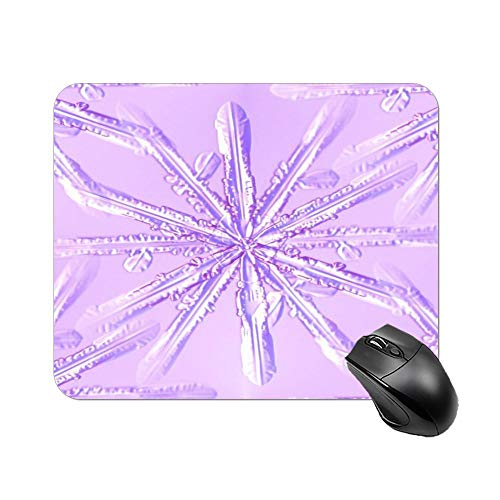 Gaming Mouse Pad Snowflake Turtle Tattoo Design Purple Art Desktop and Laptop 1 Pack 25x20x2cm/9.8x7.9x0.8inch