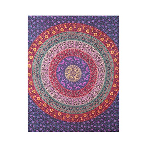 VOSAREA Tapiz de Mandala Tapiz de Pared decoración de habitación Bohemia Alfombra de Cama Manta Hippy Manta de Playa Tapiz de Cama Colgante de Pared