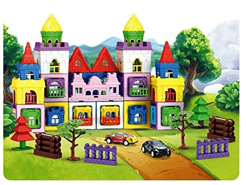 LittleStars 110 Pcs 3D Magnetic educational learning building CASTLE Toy colourful Blocks