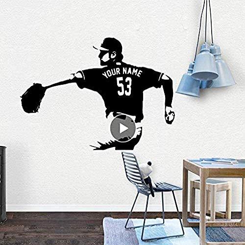 Wandaufkleber,Baseball Wandkunst Aufkleber Dekoration Mode Aufkleber dekorative Vinyl Tapete Schlafzimmer Dekor 58 * 83