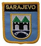 1000 Flaggen Sarajevo Bosnien & Herzegowina Schild Bestickt Aufnäher
