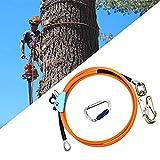 HUKOER 12mm * 3m alambre de acero Core tirón Kits línea con triple bloqueo Mosquetón Ajustador