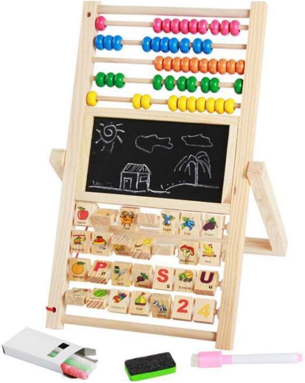 QARYYQ Mehrzweck-Zeichenbrett-Berechnungsrahmen Pdagogisches Puzzle Für Die Frühe Kindheit Abacus-Magnet-Zeichenbrett Mit Multifunktionsfunktion Spielzeug