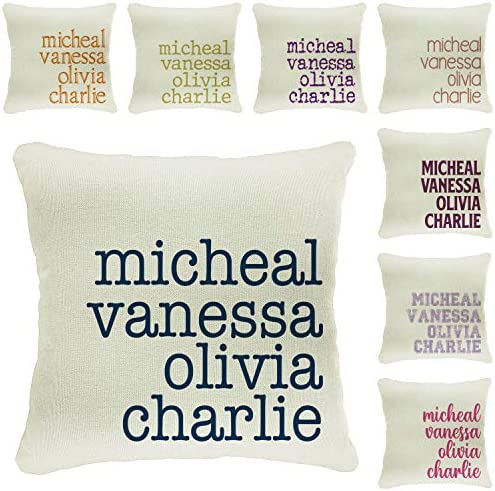 Zexpa Apparel Personalized Throw Pillow Covers Customize Family Names Pillowcase Custom Pillow product image