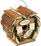 com-four® Caja Nido de Madera para Colgar, pajarera en Forma de corazón para Aves Silvestres, 17 x 12 x 17 cm (01 Pieza - Caja Nido)