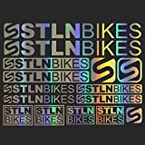 For Stolen Bikes Bicycle Frame MTB BMX Stickers Sticker Set Vinyl Graphic Decal Decal body car styling decorative Decal Sticker Kit (SILVER)