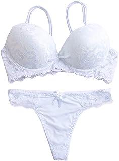 bd13042876664 Women s Lace Bra Set Sexy Lingerie Bra and Panties Push Up Underwire Bra