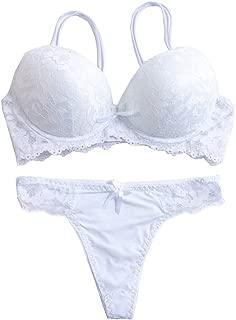 Women's Lace Bra Set Sexy Lingerie Bra and Panties Push Up Underwire Bra