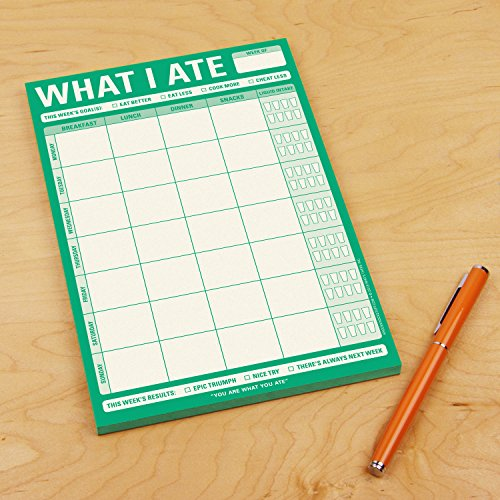 Knock Knock What I Ate Pad, Meal Tracker Note Pad, 6 x 9-inches Photo #3