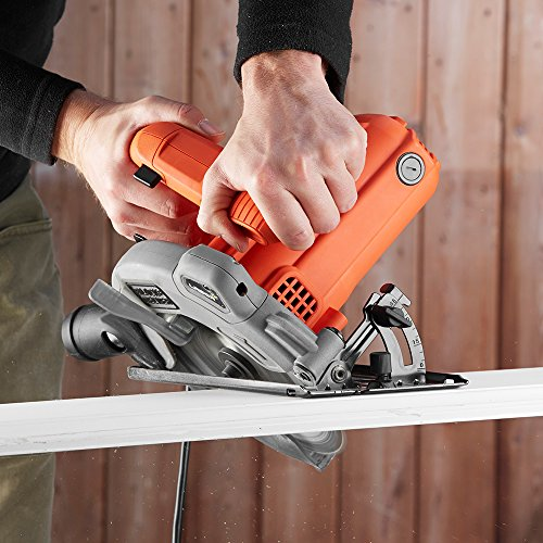 BLACK+DECKER 1250 W 66 mm Cutting Depth Blade Circular Saw Power Tool, CS1250L-GB