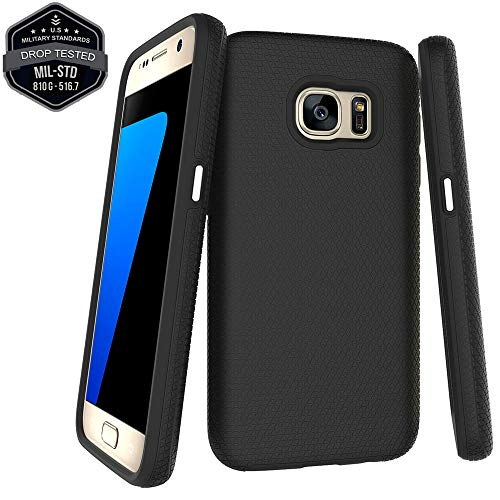 Moment Dextrad Galaxy S7 Case,S7 Case,Slim Thin Rugged Grip Design Hybrid Samsung S7 Case,Military Grade Heavy Duty Protective Defender Shockproof Phone Case Cover for Samsung Galaxy S7 Case (Black)