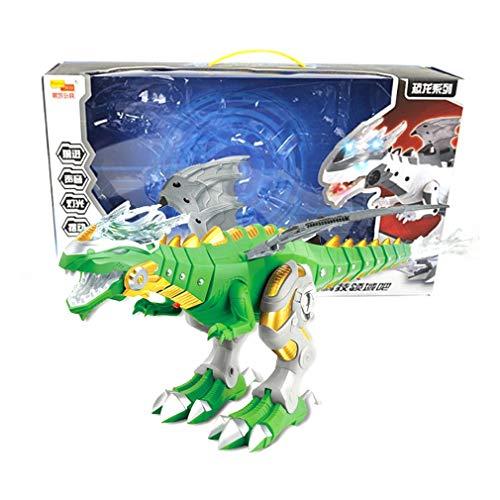 Nsdsb Dinosaurios Mecánicos En Aerosol Grande con ala De Dibujos Animados Modelo Animal Electrónico Verde