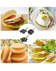 MONLEYTA Sartén para Tortillas de 4/6 Agujeros para Hamburguesas, Huevos, jamón, sartén para Hacer tortas, sartenes antiadherentes